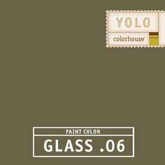 YOLO Colorhouse GLASS .06 - A strong, solid green.  What we call an anchor hue, this color will ground any color palette.  Try on kitchen cabinets for an Old World feel.