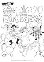 Wiggles party on pinterest car cakes guitar cake and for Wiggles coloring page