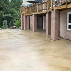 Stained concrete back porch idea
