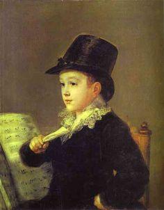 Goya - Portrait of Mariano Goya, the Artists Grandson