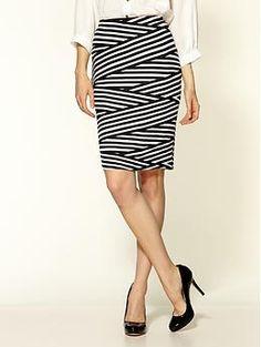 Loveappella Zebra Pencil Skirt | Piperlime