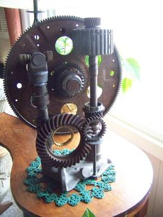 From my Trash to Treasure Decorating blog: Steam Punk Sculpture