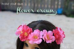 doll cloth, girl doll, doll delight, flower crowns, ag doll, american girl, flowers, diy, doll craft