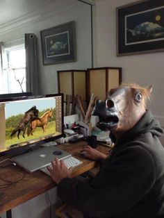 CAUGHT YA, HORSE Shame on you.