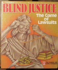 Vintage 80s if you can find it: Blind Justice The Game of Lawsuits The Avalon Hill Game Company 1989 New SEALED | eBay