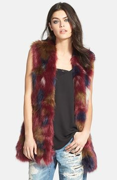 Wayf Faux Fur Long Vest available at #Nordstrom    I LOVE THIS  $110