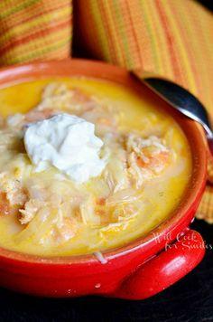 Homemade Enchilada Soup  from willcookforsmiles.com #soup #chicken
