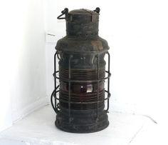 Vintage Ship Light Ship Salvage Lantern Nautical by vintageseas, $325.00