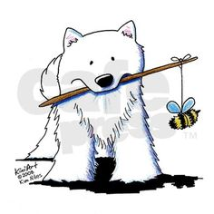 Samoyed...Keeper of the Bee's! No wonder their such SWEET DOG'S!!!  lol