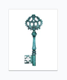 Blue skeleton key ♥
