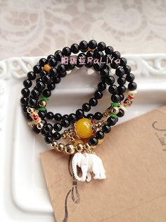 Aliexpress.com : Buy Fashion White Agate Ivory Elephant God Multi Layer Beaded Bracelet/Necklace  from Reliable rosary necklace suppliers on Miss Limy's store . $69.99