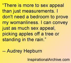 Audrey Hepburn on sex appeal