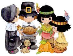 Precious Moments Thanksgiving