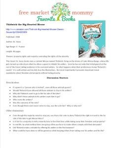Thidwick Dr Suess printable discussion guide. Free printables
