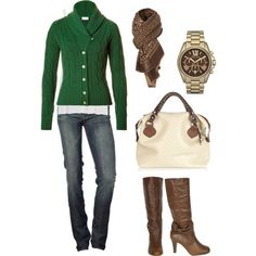 This is more like fall, but it could pass for winter also. sweater, fashion, cloth, style, weight loss, winter looks, fall outfits, brown boots, fall attire