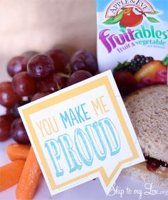 Free printable lunch box notes! Send love from home. From Skip to my Lou