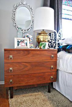 Oversized vintage nightstands