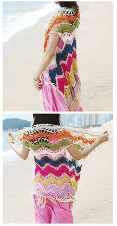 hairpin lace beach vest cardi inspiration