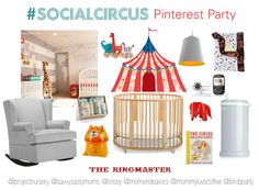 Join us for a #SocialCircus Pinterest Party! {Click through for details on how you can pin along with us to win a @Amber Stokke®  Sleepi Crib, Mattress and Conversion kit!} #pintowin #contest