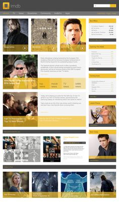 Imdb Gone #Flat by katrina radic, via Behance