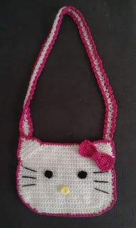 Crochet inspired: hello kitty crochet bag - free pattern