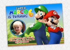 Super Mario Birthday Invite by PrintSparkle on Etsy, $8.00