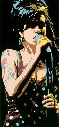 Amy Winehouse silkscreen print