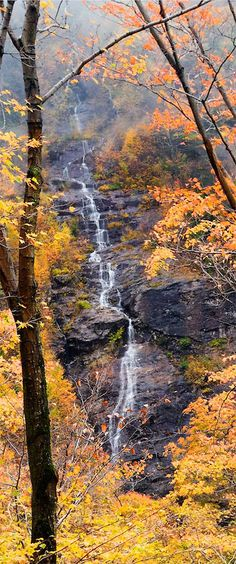 autumn, waterfall, Smuggler's Notch State Park, Vermont