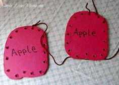 Apple unit study ideas for preschoolers!