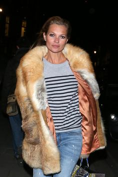 icon, furs, weekend style, katemoss, casual fur