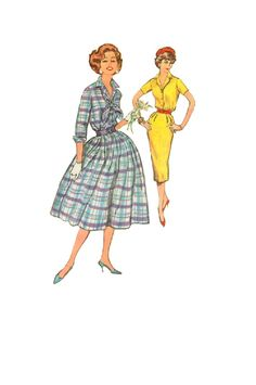 Vintage Simplicity Sewing Pattern 1950s by AdeleBeeAnnPatterns, $12.00