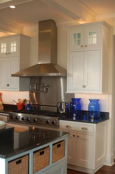 House of Turquoise kitchen with accents in cobalt blue