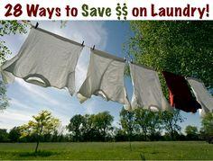 28 Ways to Save Money on Laundry! via TheFrugalGirls.com #laundry