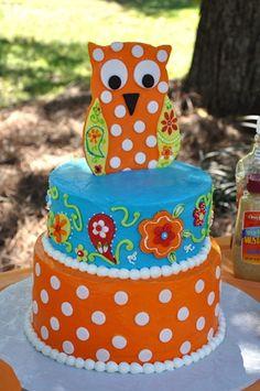 Adorable Owl Birthday Cake!