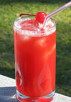 Alabama Slammer. Amaretto, Southern Comfort, OJ, splash of grenadine, served with a wedge of orange and a maraschino cherry.