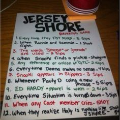 Jshore drinking game