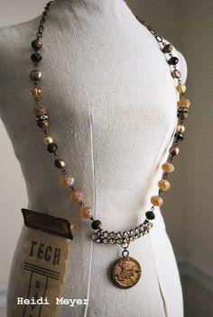 Geraldine repurposed necklace #assemblage