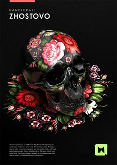 Russian folk paintings on skulls by Sasha Vinogradova | Inspiration Grid | Design Inspiration