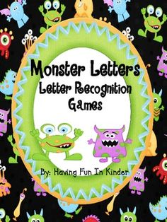 The little cuties in your classroom will definitely love using these CUTE monster themed letter recognition activities.  The games that can be play...