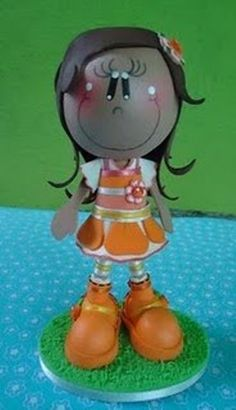 linda fofucha naranjita con moldes (de la web) en el Foro de Manualidades