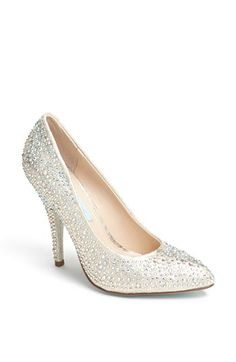 Blue by Betsey Johnson 'Shine' Pointy Toe Pump available at #Nordstrom
