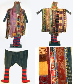 Africa | Egungun masquerade dance costume from the Yoruba people of Nigeria | early 20th century