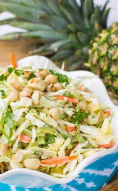 Pineapple Macadamia Nut Slaw