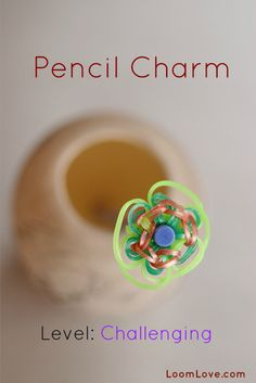 How to Make a Pencil Charm #rainbowloom