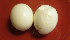 Easy peel, boiled eggs - add baking soda to the water