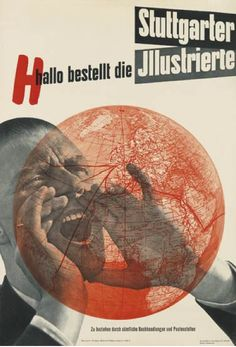 By Anton Stankowski (1906-1998), 1937,  Stuttgarter Illustrierte, Stuttgart. (One of the most important German graphic designers of the 20th century)