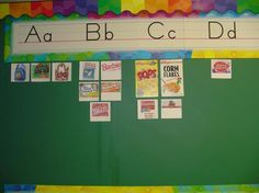 I love Environmental Print on the Word Wall! environmental print, word wall, environment print