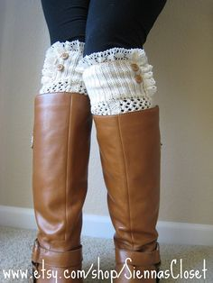 boot and legwarmers <3