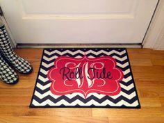 Roll Tides Alabama Personalized Door Mat Monogram Floor Mat Chevron on Etsy, $30.00