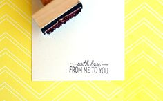 With Love Rubber Stamp  by annmarielovespaper